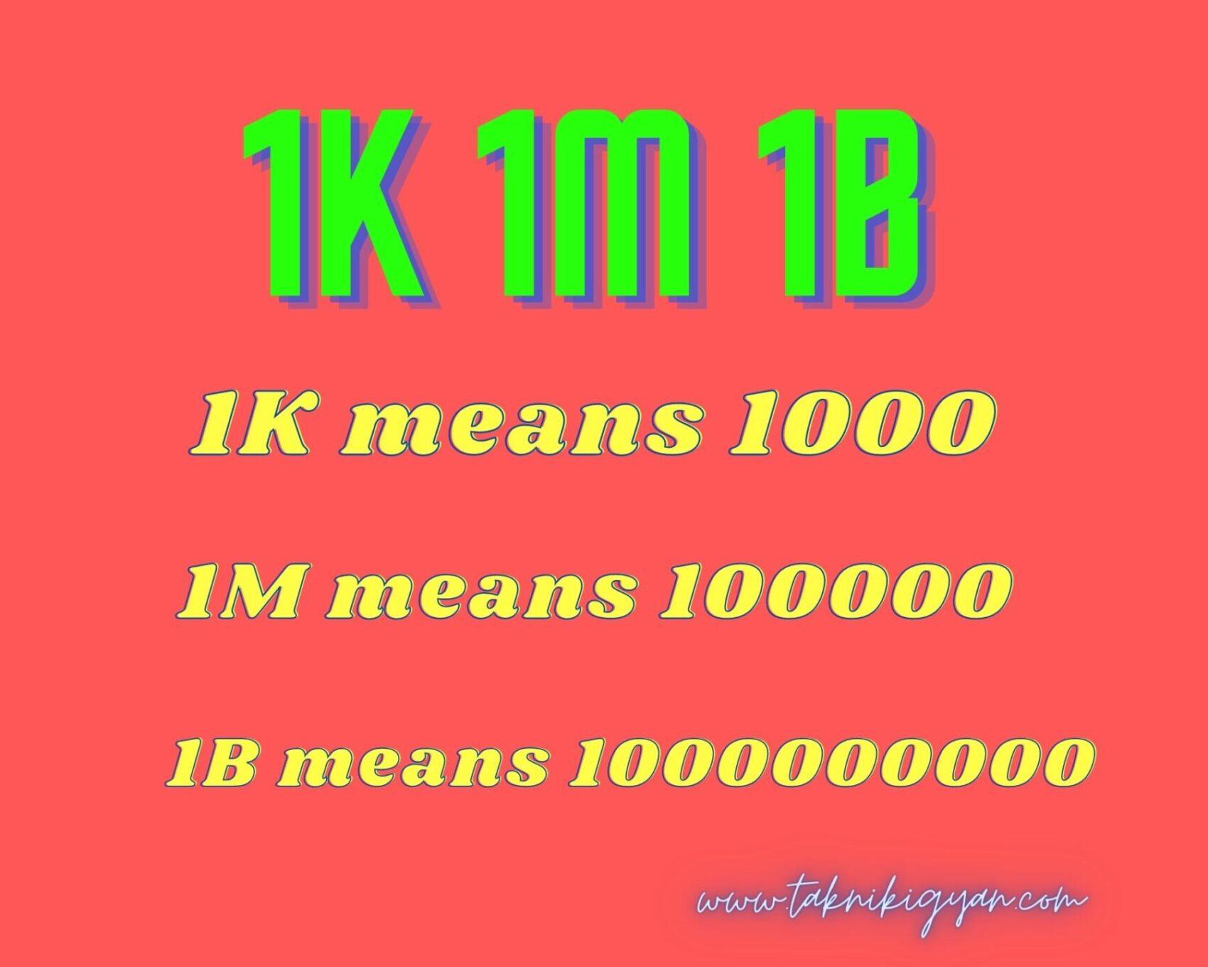 1k 1m 1b